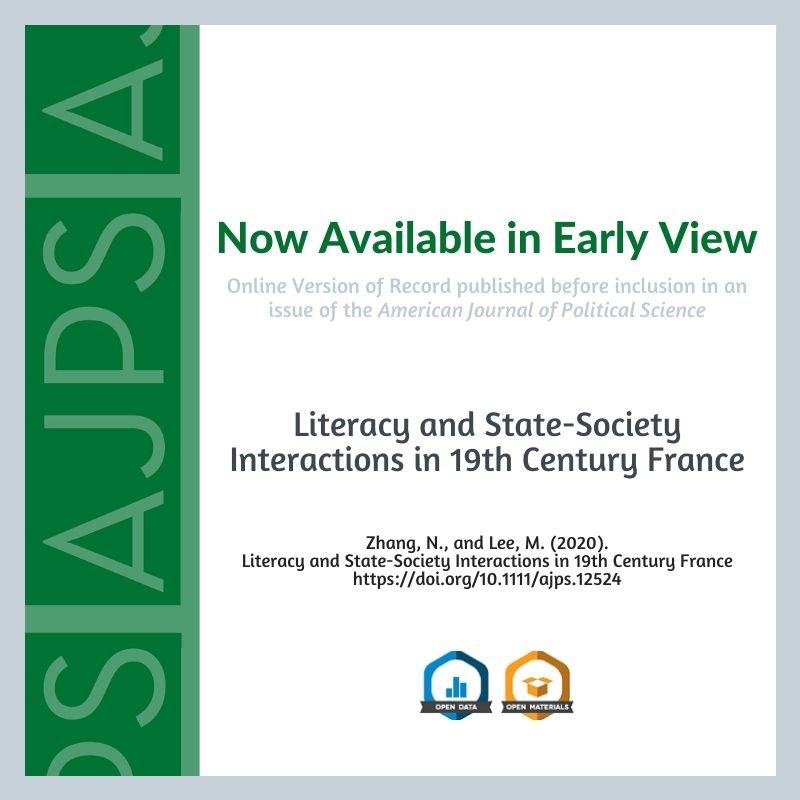 Literacy and State–Society Interactions in Nineteenth‐Century France